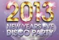Рекламная афиша New Year Disco Party Free PSD